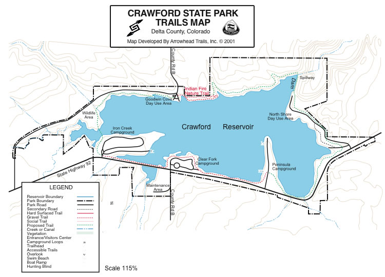 Crawford state park map