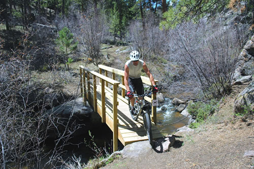 NIce Bridge Construction in Curt Gowdy State Park