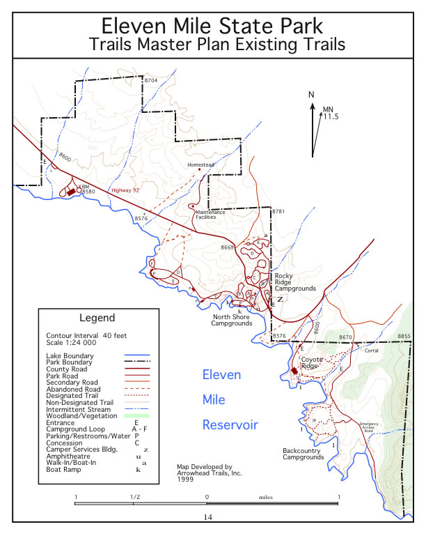 Arrowhead trails eleven mile state park trails master plan for Colorado plan